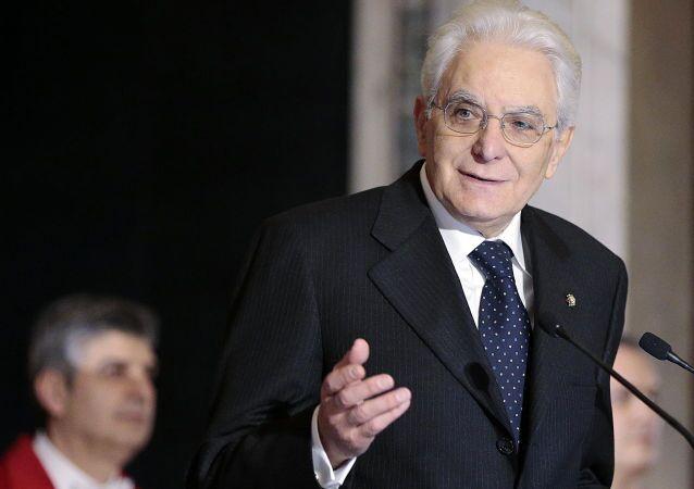 Presidente da Itália Sergio Mattarella