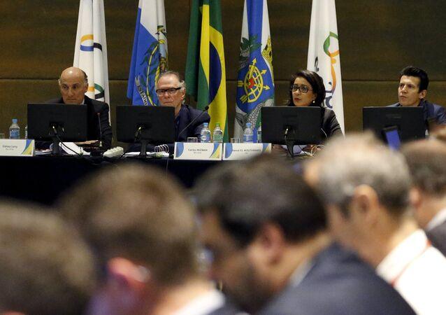 Reunião da Comissão de Coordenação do COI para os Jogos Rio-2016 no Rio de Janeiro, em 10 de agosto de 2015