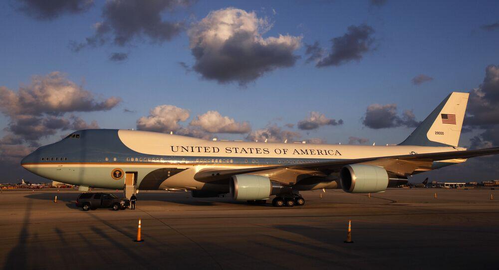 Avião do presidente norte-americano