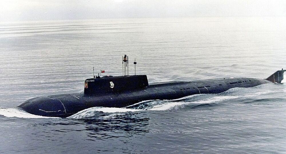 O submarino nuclear russo Kursk, que afundou no Mar de Barents em 12 de Agosto de 2000