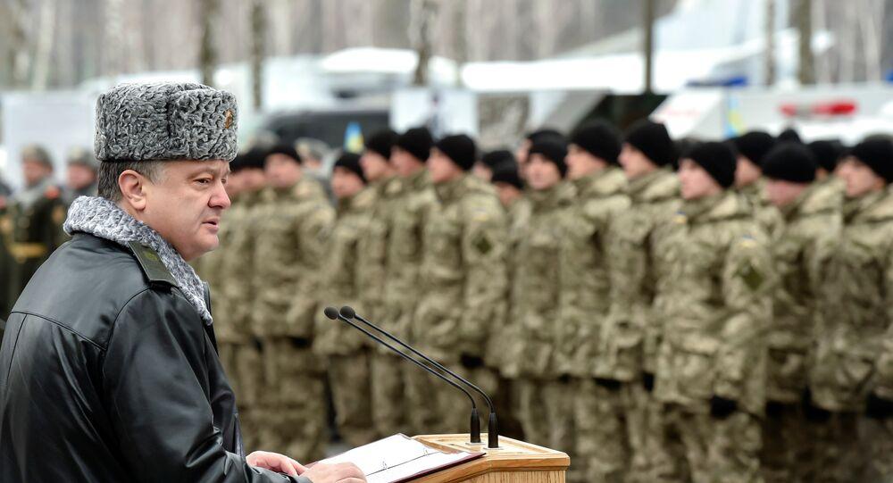 Pyotr Poroshenko e a Guarda Nacional da Ucrânia