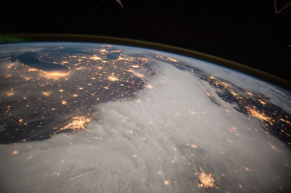 A Terra vista da Estação Espacial Internacional