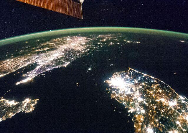 A Terra vista da Estação Espacial Internacional (imagem referencial)