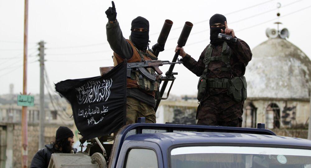 Os militantes da Frente al-Nusra da al-Qaeda
