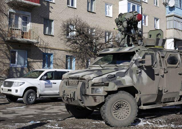 Blindado KrAZ utilizado pelo exército ucraniano