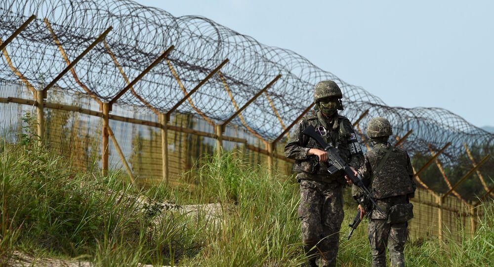 Zona desmilitarizada que divide a Coreia do Sul e Coreia do Norte