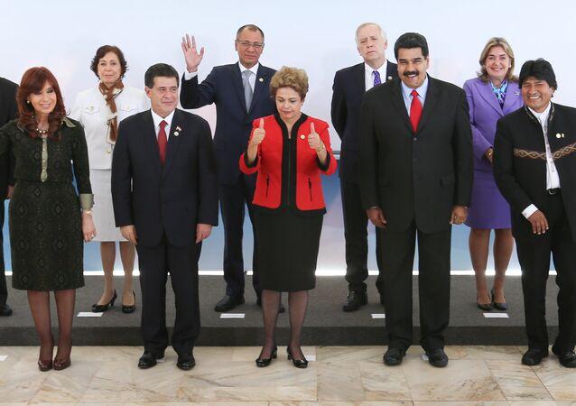 Foto oficial dos participantes Cúpula do Mercosul