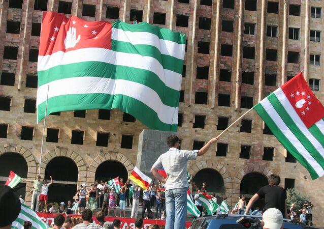 População da Abkházia comemora o reconhecimento de sua independência pela Rússia