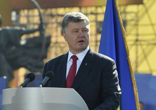 Presidente da Ucrânia Pyotr Poroshenko em Kiev