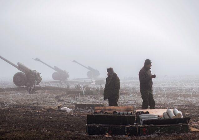 Milícias em Debaltsevo