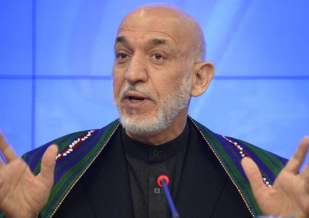 Ex-presidente do Afeganistão, Hamid Karzai