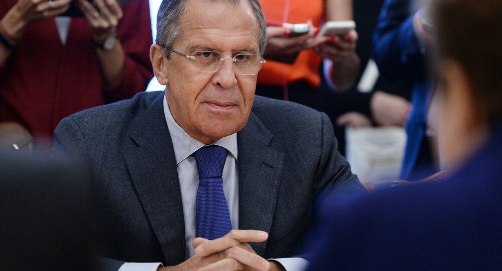 Ministro das Relações exteriroes da Rússia Sergei Lavrov