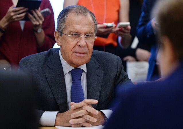 O ministro das Relações exteriroes da Rússia, Sergei Lavrov