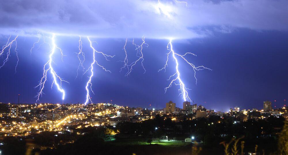 O Brasil é o país com maior incidência de raios por ano