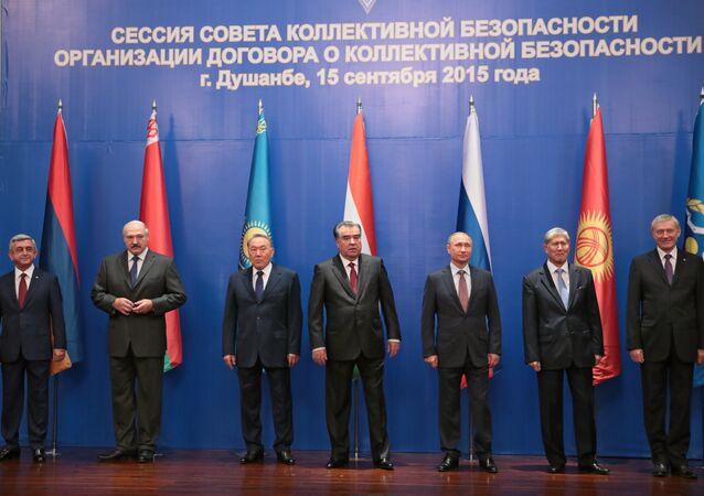 Líderes da OTSC, na cúpula do organismo.