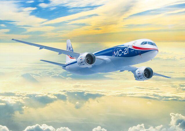 Projeto do avião MS-21 Irkut.