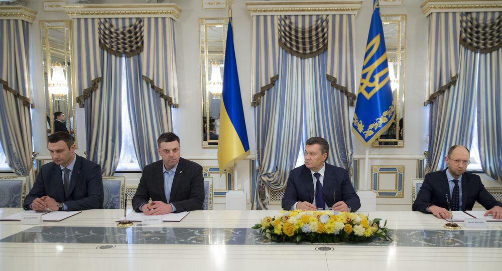 Assinatura do acordo de 21 de fevereiro de 2014