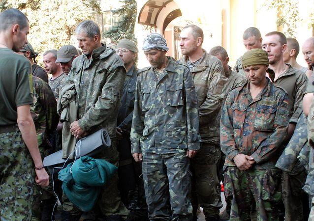 Prisioneiros do exército da Ucrânia