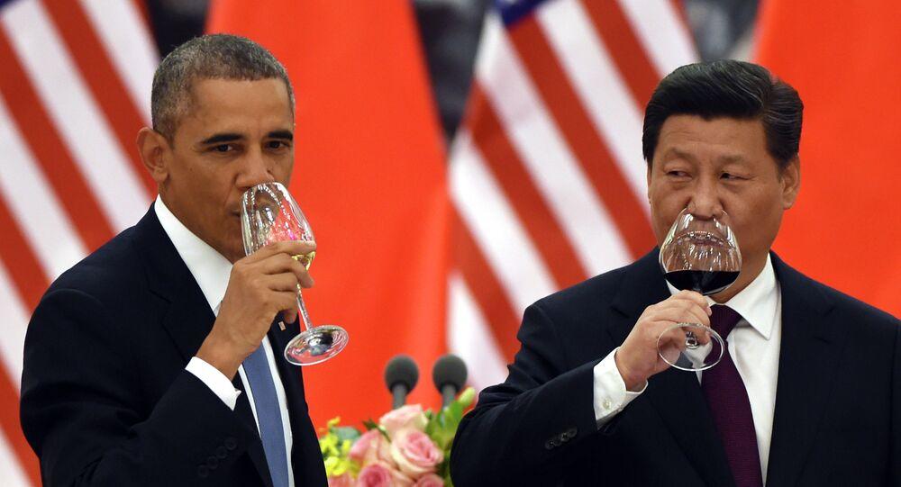Arquivo. Encontro entre o presidente dos Estados Unidos, Barack Obama, e o presidente chinês, Xi Jinping, em Pequim, em novembro de 2014