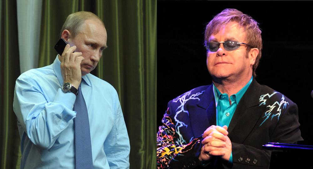 Vladimir Putin e Elton John