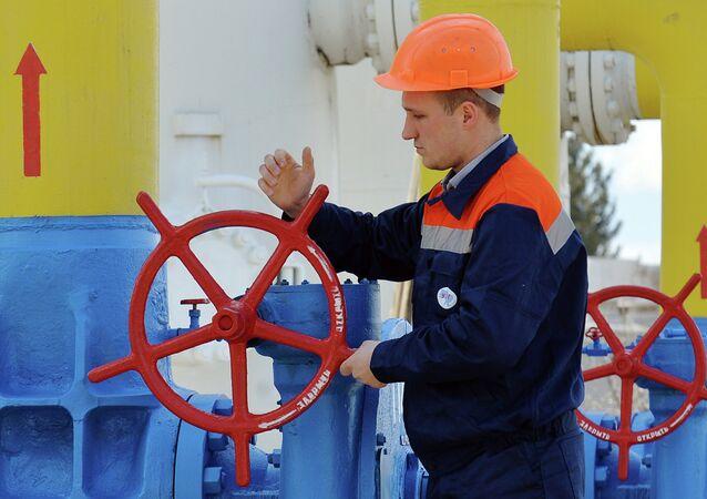 Instalação de gás na cidade de Boyarka, em 22 de abril de 2015