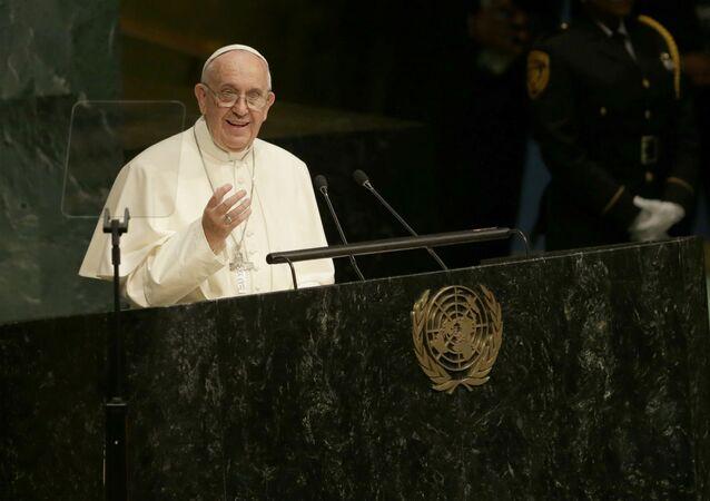 Papa Francisco discursa na ONU.