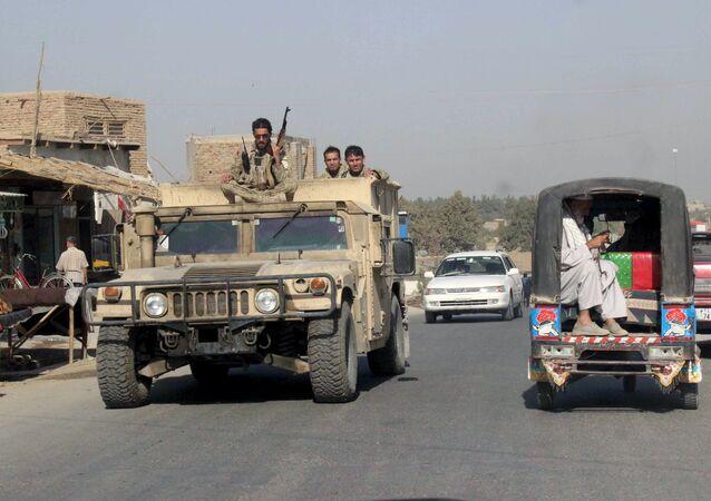 Forças de segurança do Afeganistão na província de Kunduz em 28 de setembro 2015