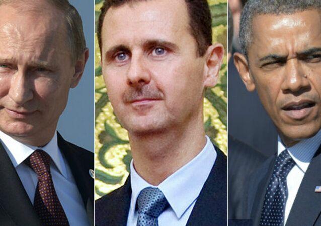 Vladimir Putin, Bashar Assad, Barack Obama