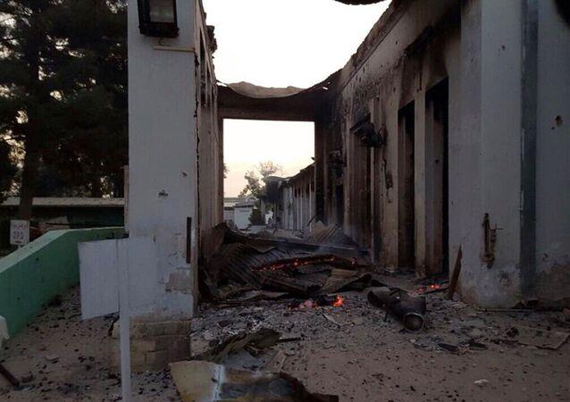 Hospital do Médicos Sem Fronteiras bombardeado no norte do Afeganistão no dia de 3 de outubro, em Kunduz