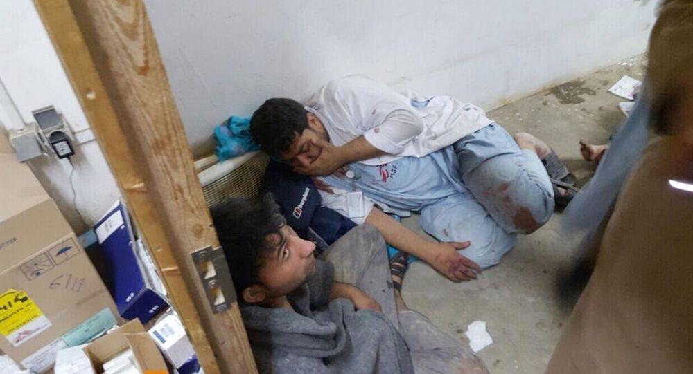 Funcionários do MSF feridos após bombardeio ao hospital na cidade de Kunduz, Afeganistão