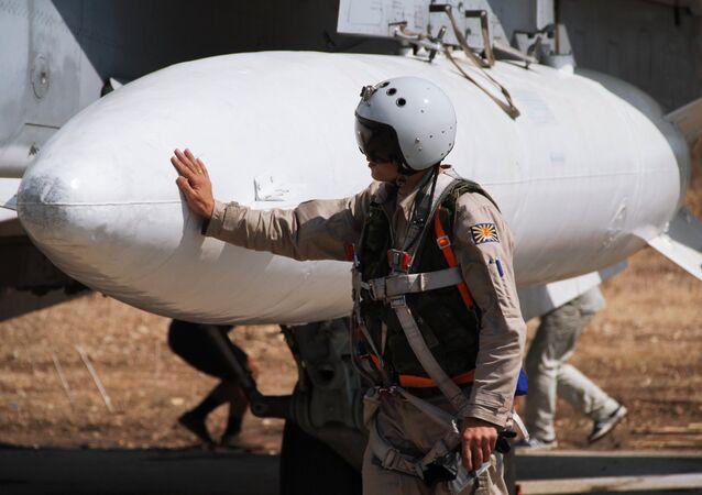 Grupo militar russo na base aérea na Síria