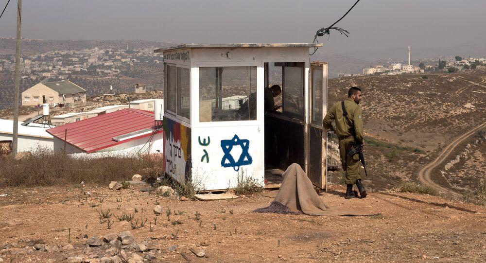 Posto de controle israelense na Cisjordânia (foto de arquivo)
