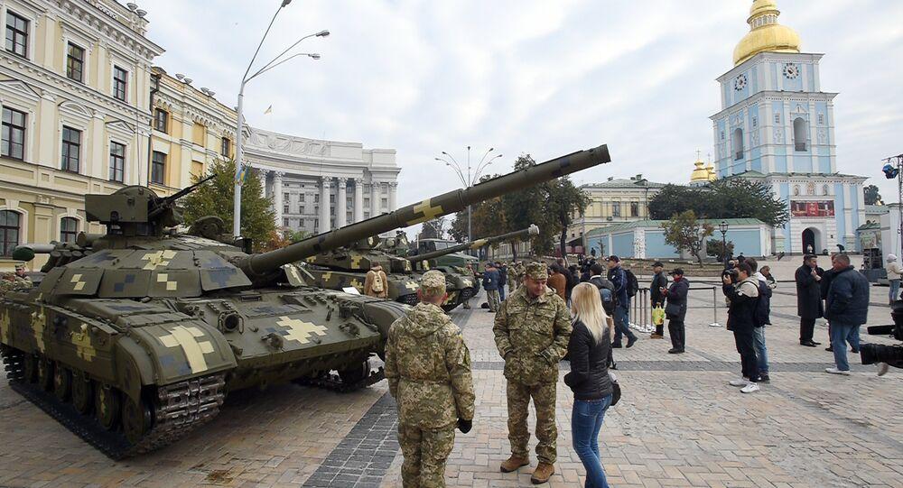Exposição militar na Ucrânia