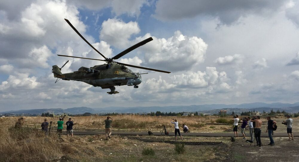 Helicóptero russo Mi-24 na Síria