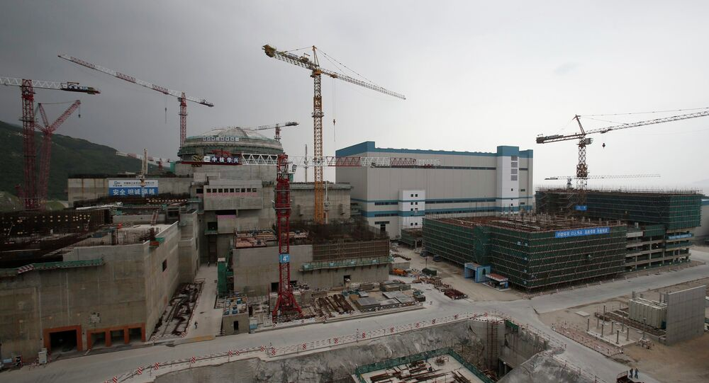 Construção de uma usina nuclear na província Guangdong, na China