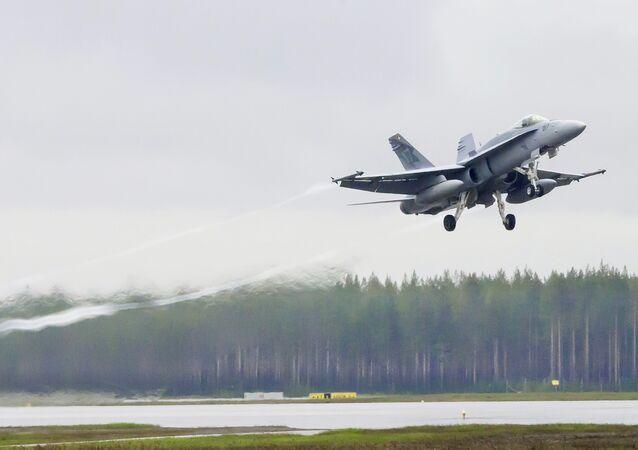 Caça suíço F/A-18 Hornet