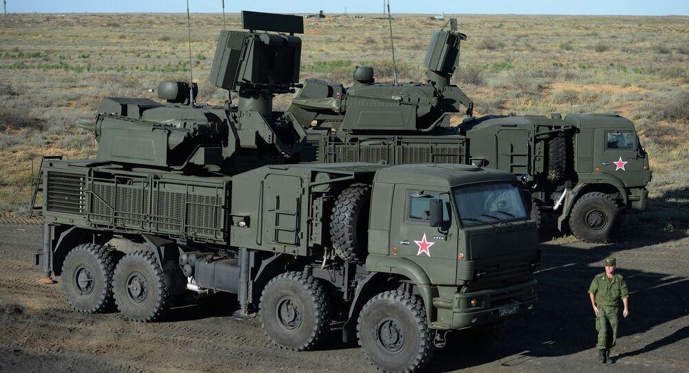 Sistema de defesa antiaérea russo Pantsir-S1