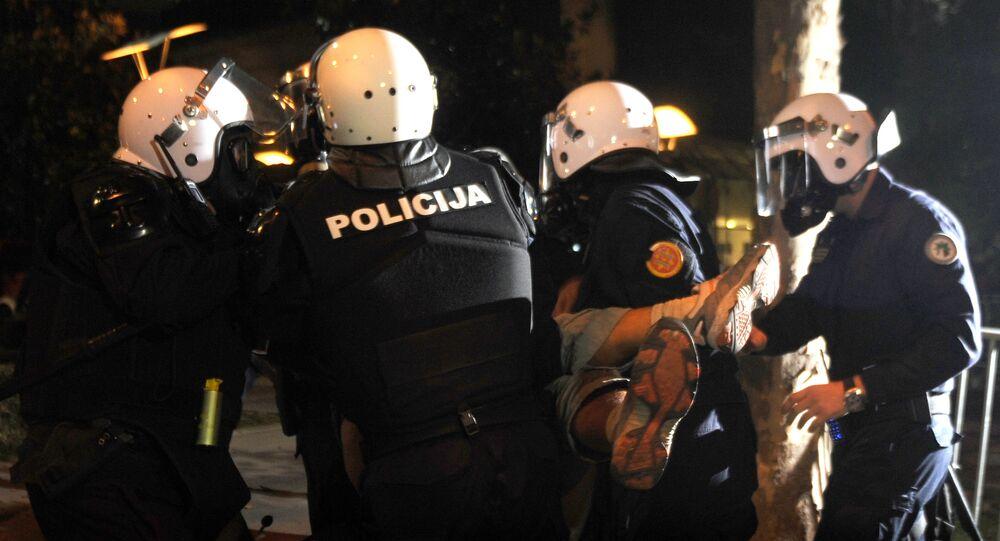 Protestos em Podgorica (Montenegro)