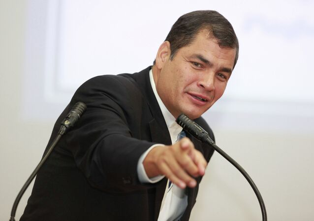 Presidente do Equador Rafael Correa