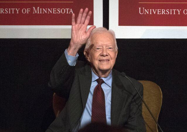 Ex-presidente dos EUA, Jimmy Carter, em Washington, 20 de outubro de 2015