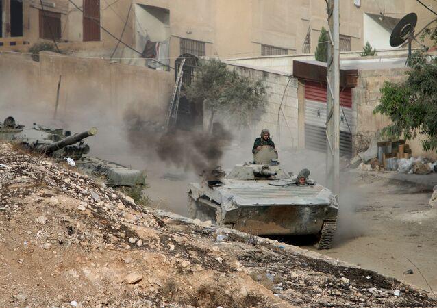 Tropas sírias controlam Harasta.