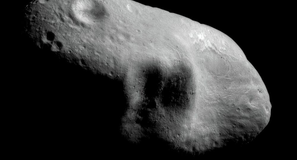 Fragmento de asteroide, imagem da NASA