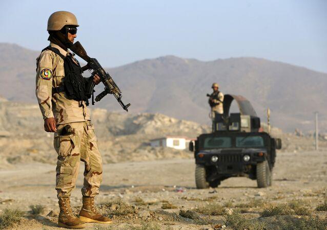 Policía de Afganistán en Kabul