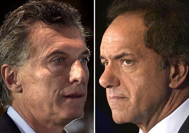 Mauricio Macri x Daniel Scioli