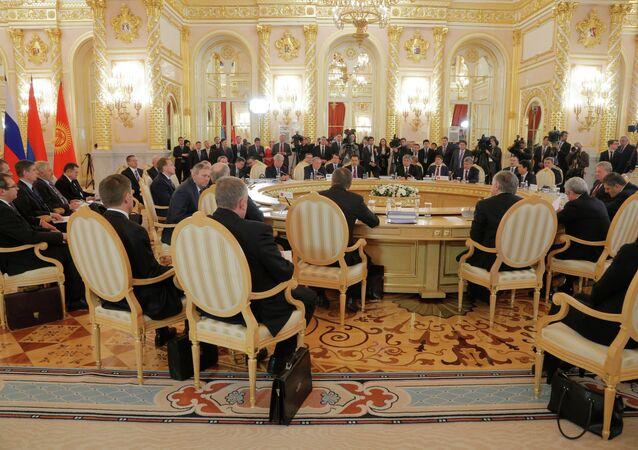 Cúpula da União Econômica Euroasiática em Kremlin, Moscou, 23 de dezembro de 2014
