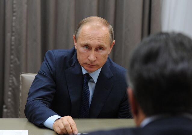 Encontro entre Vladimir Putin e vice-chanceler alemão Sigmar Gabriel