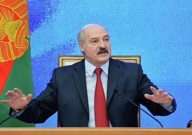 Presidente da Bielorrússia, Aleksandr Lukashenko (foto de arquivo)