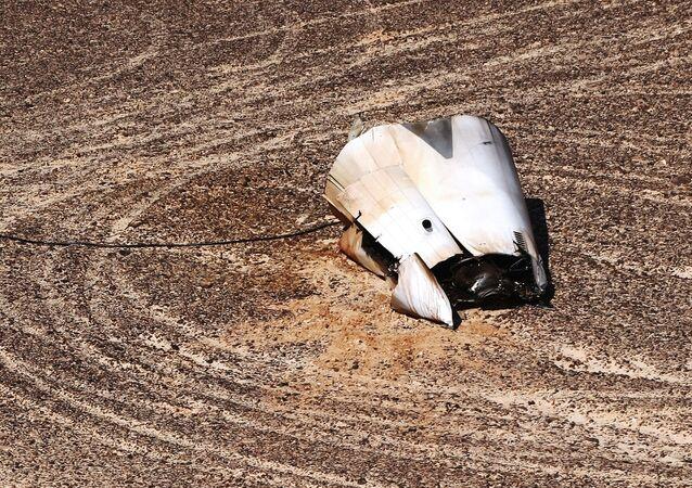 Destroços no local da queda da aeronave russa Airbus A321 no Egito