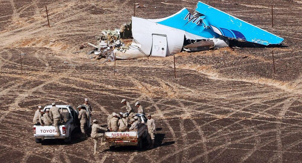 Local da queda da aeronave russa Airbus A321 no Egito