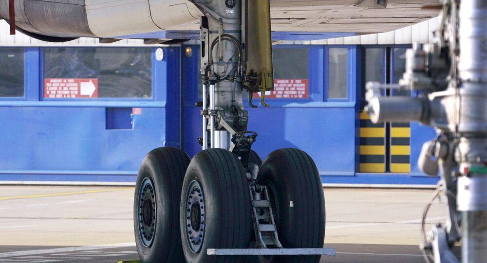 Rodas de avião.